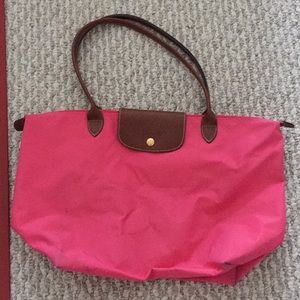 Pink Longchamp bag